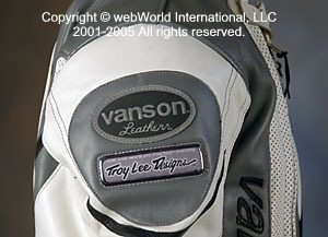 Special Troy Lee Designs on this Vanson Leathers Volante suit