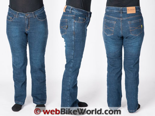 Sliders Bella Jeans Three Views