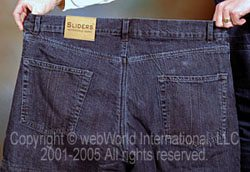 Sliders Kevlar jeans, rear view