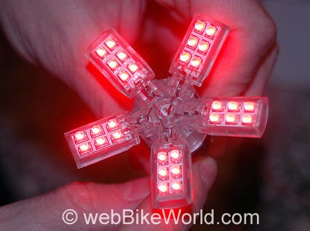 Spider LED Light - SpiderLite unfolded