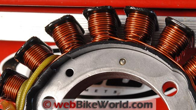 Stock Suzuki Stator Close-up