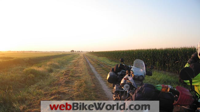 Sunset on the Trans-America Trail
