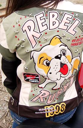 Super G Women's Motorcycle Clothing - Rebel Ruby Jacket