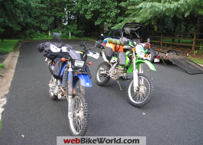 Suzuki DRZ-400S and Kawasaki