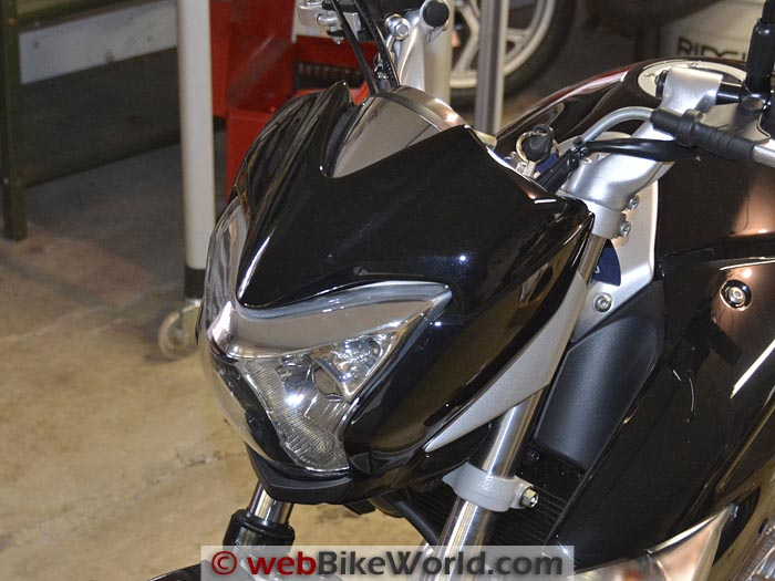 Suzuki GW250 Before Windscreen Installation