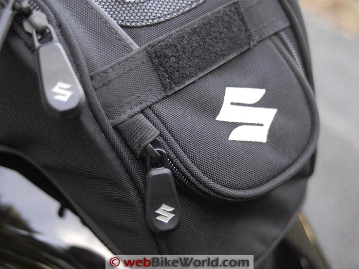 Suzuki GW250 Tank Bag Cover Rear Pocket Close-up