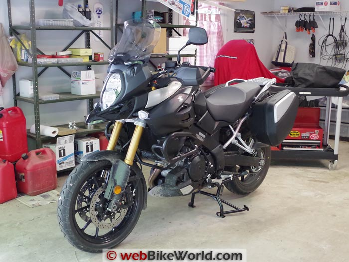 Suzuki V-Strom 1000 ABS on Center Stand