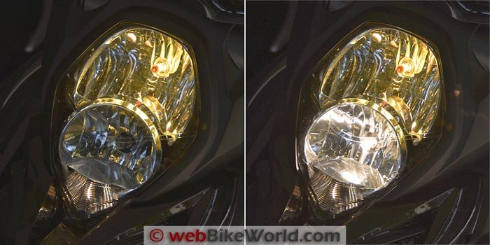 Suzuki V-Strom 1000 ABS Yellow Bulb On-Off