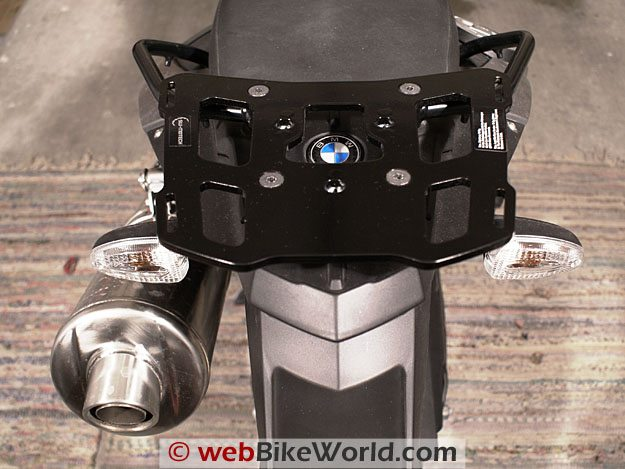 SW-Motech adapter plate on a BMW F800GS.