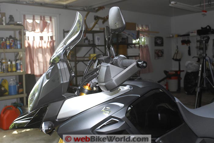 SW-Motech Bar Risers on Suzuki V-Strom 1000 ABS Side View
