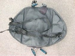 Motorcycle tank bag - bottom view - motorcycle soft luggage by Oxford Products