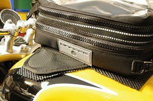 Tank bag padding protector on motorcycle fuel tank