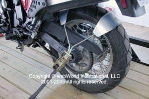 Road Bike Rear Wheel Tie Down System Tire Tyre Downs Strap Straps Motorbike UK