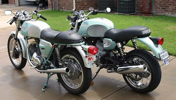 Rear View - Ducati GT750 and GT1000