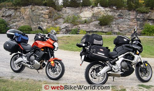 Kawasaki Versys and Accessories - On the Road