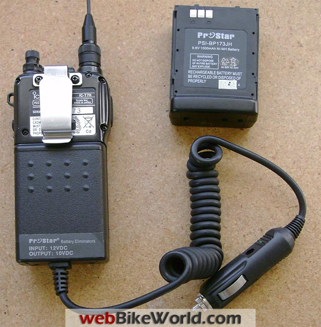 Two-Way Radio Battery Elmiinator