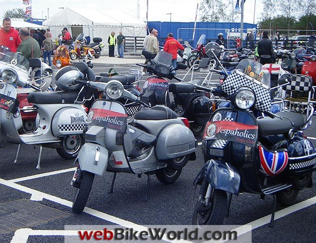 Vespas in the Car Park