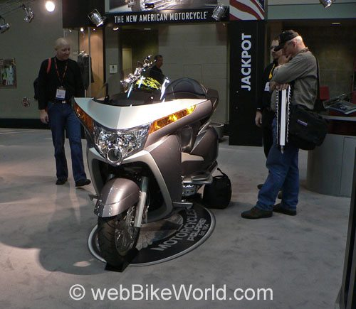 Victory Vision Motorcycle - Silver, Front View