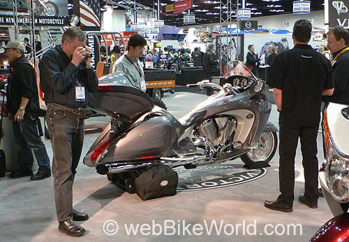 Victory Vision Motorcycle - Silver, Right Side