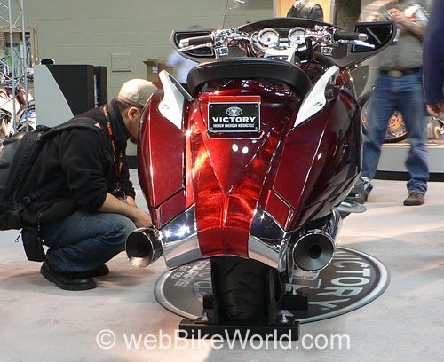 Victory Vision Motorcycle - Rear View