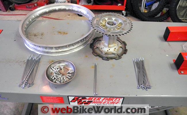 Wheel Ready for New Spokes