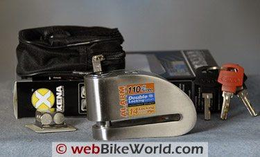 Xena XN15 Disc Lock Alarm Review - webBikeWorld