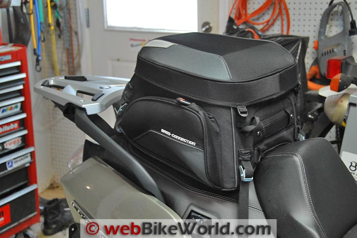 Bags-Connection EVO Rear Bag on the BMW Scooter