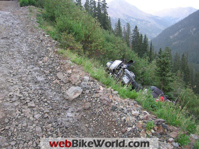BMW R 1150 GS Crash