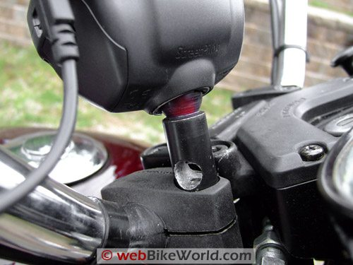 Garmin GPS Handlebar Mount Assembled and Operational