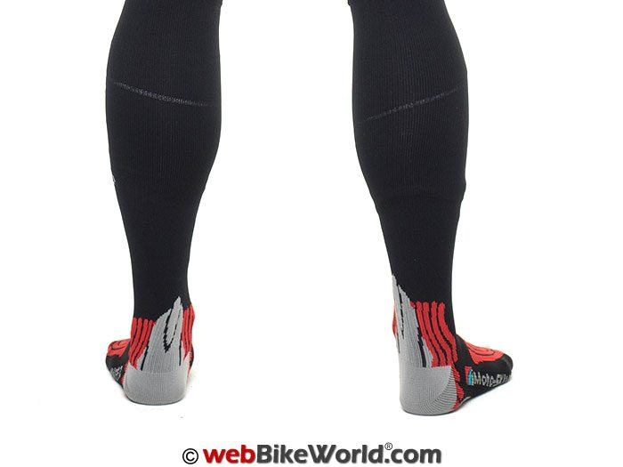 Moto Skiveez Compression Socks with Aloe - Rear View