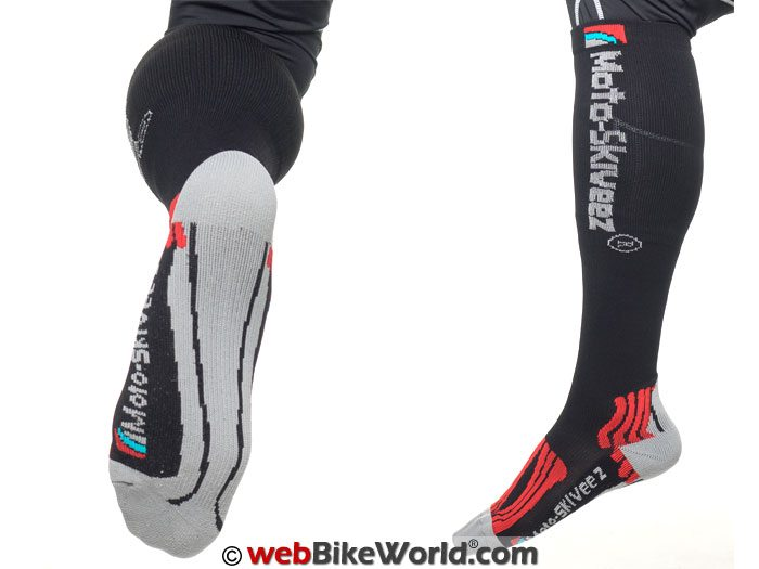 Moto Skiveez Compression Socks with Aloe - Bottom View
