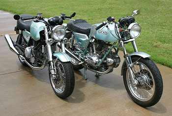 Ducati GT1000 (Left) and Ducati 750GT (Right)