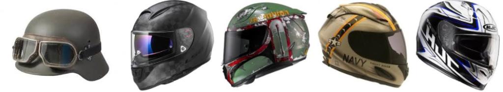 cool looking motorcycle helmets
