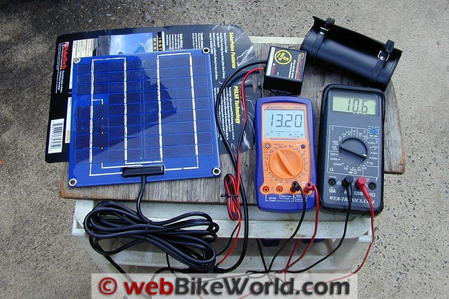 Pulsetech Solar Battery Charger Volt Meter on Military Solar Battery Charger