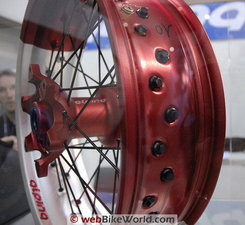 Alpina Tubeless Motorcycle Wheels - Spoke Ends
