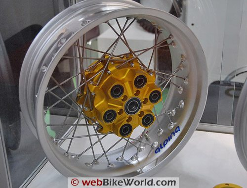Alpina Tubeless Motorcycle Wheels - Hub