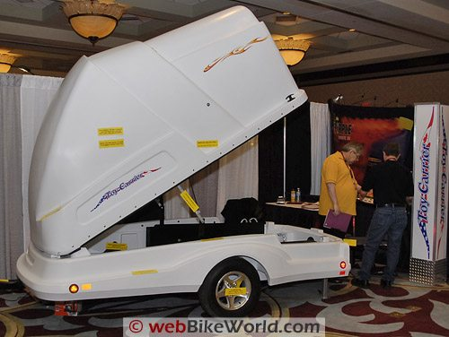 Covered Motorcycle Trailer