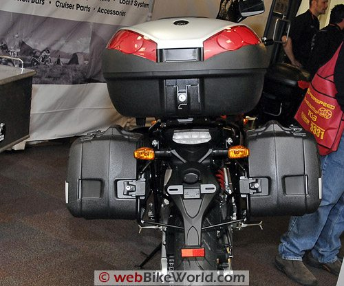 Hepco & Becker Luggage - Rear View, Versys