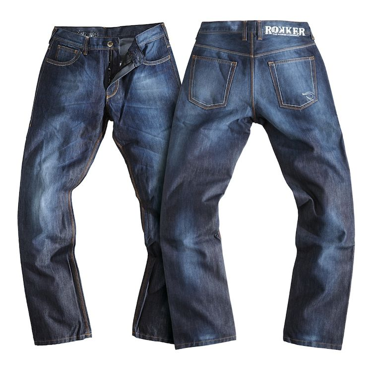 Rokker Revolution Riding Jeans Front and Back View