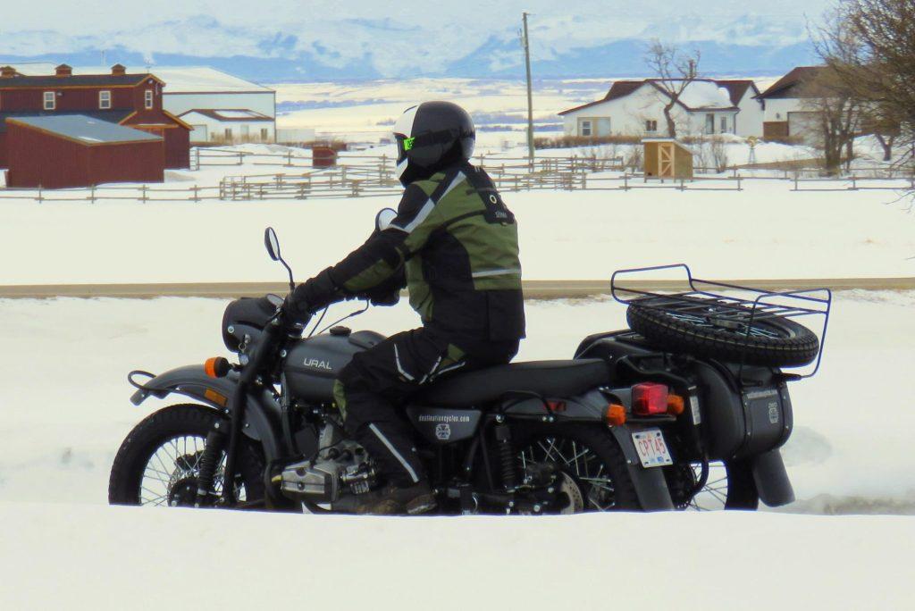 Husqvarna Pilen Helmet & Ural Motorcycle w/ Sidecar