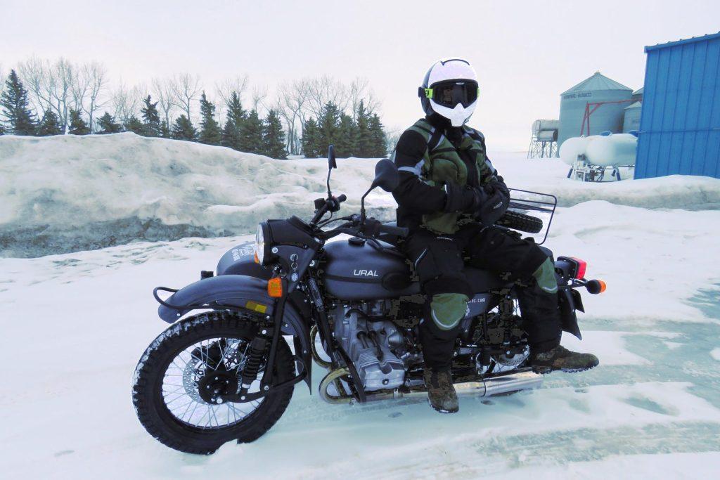 Ural Motorcycle w/ Sidecar & Husqvarna Pilen Helmet