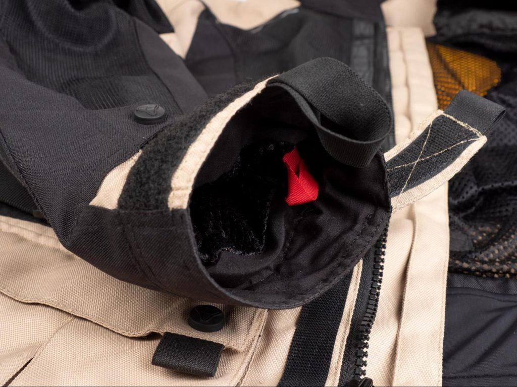 Pilot Motosport Elipsol Air Jacket Closeup of Inside Arm Cuff