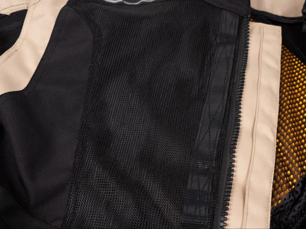 Pilot Motosport Elipsol Air Jacket Closeup of Chest Mesh Ventilation