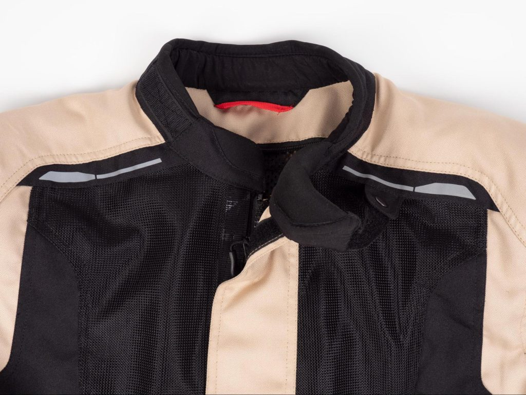 Pilot Motosport Elipsol Air Jacket Closeup of Collar Undone