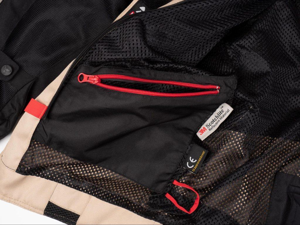 Pilot Motosport Elipsol Air 3M 3M™ Scotchlite™ Pocket Inside Waist of Jacket