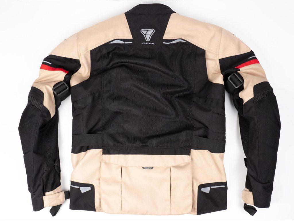 Pilot Motosport Elipsol Air Jacket Back of Jacket Shown Flat