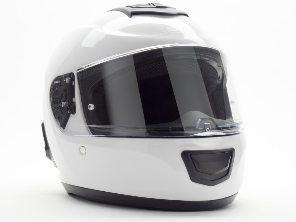 Sena Momentum Helmet Front-Side View of Helmet, Off-center