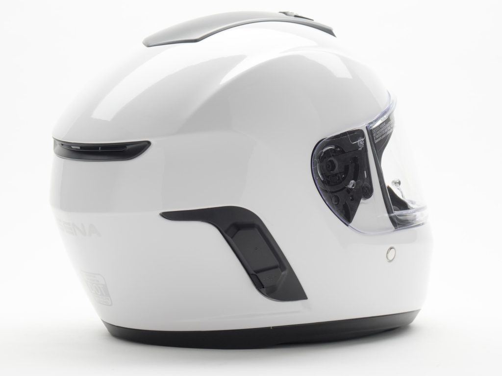 Sena Momentum Helmet Semi-Offside Back View of Helmet