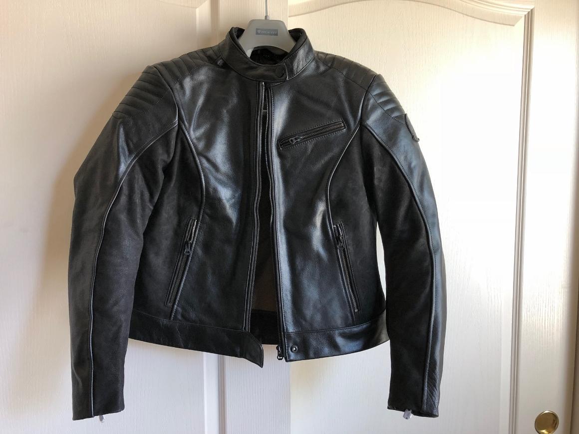 REV'IT Clare Ladies Jacket Full Frontal View Displayed on Hanger