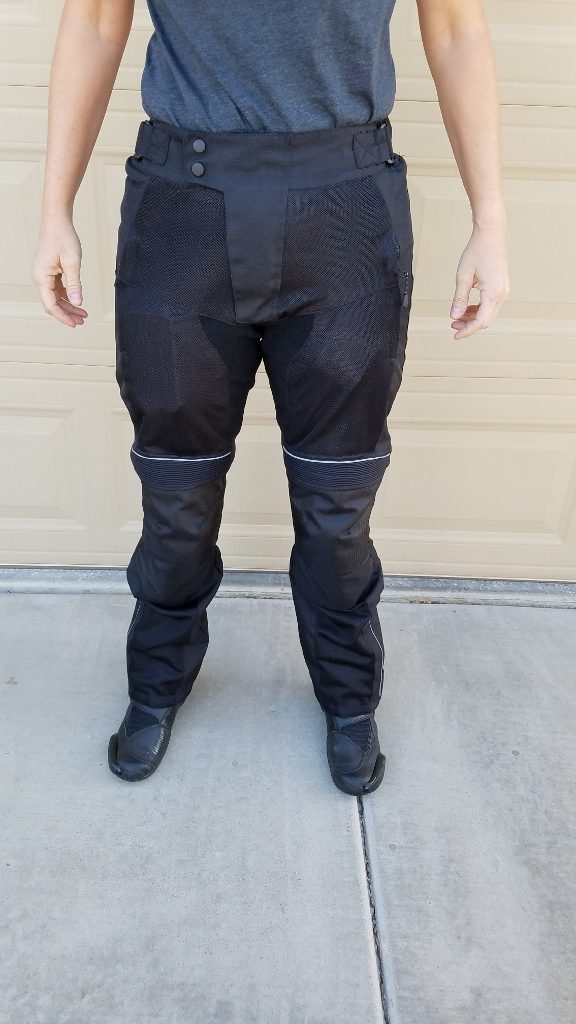 Motonation Cappra Vented Texile Pants As Shown On Model Frontal View